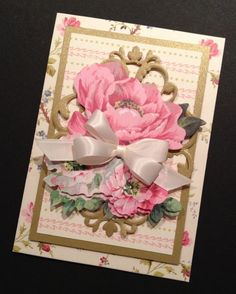 Shabby-Sweet Floral All Occasion Greeting Card with Anna Griffin Papers