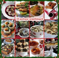 12 potraw wigilijnych. Dania wigilijne. Polish Christmas, Christmas Time, Xmas, Polish Recipes, Polish Food, Pasta Salad, Holiday Recipes, Tea Party, Food To Make