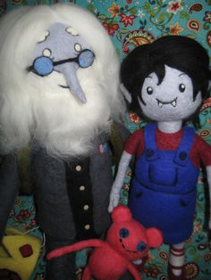 Commissioned Handmade OOAK Needle Felted Plush Dolls Inspired by  from Adventure Time by HeartFeltByCat on Etsy https://www.etsy.com/listing/214831790/commissioned-handmade-ooak-needle-felted