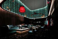 Concept Restaurant, Restaurant Lighting, Cafe Restaurant, Luxury Restaurant, Hookah Lounge, Bar Lounge, Lounge Design, Cafe Design, Restaurant Interior Design