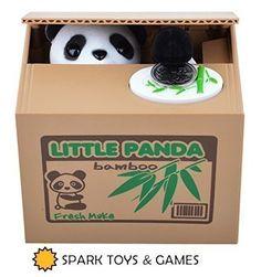Creative Toys& Games Cute Panda Bear Piggy Bank Steals Coins Magic toys Funny  Kids Gift Props Gag Joke Toys