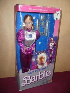 Astronaut Barbie...wow, this girl gets around!