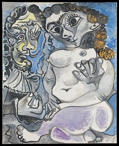 Woman and Musketeer. Pablo Picasso