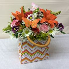 Send flowers directly from a real local florist. Fresh flowers, same-day delivery. Send Flowers, Fresh Flowers, Local Florist, Flower Delivery, Carnations, Flower Designs, Flower Arrangements, Planter Pots, Lily