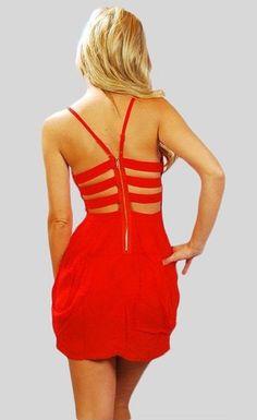 Cut out back dress $41