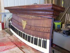 WALL MANTEL MADE FROM PIANO KEYS