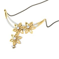 Interlocked Flowers Diamond Mangalsutra