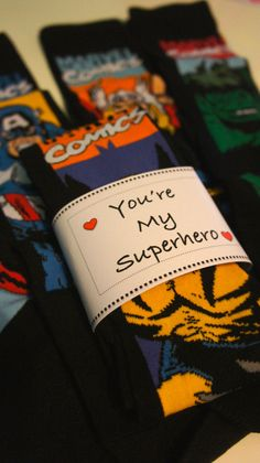You're my Superhero mens sock, Valentines gift, Wedding gift, Fathers day gift, Birthday girl