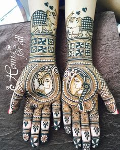 Arabic Mehendi Designs - Check out the latest collection of Arabic Mehendi design ideas and images for this year. Arabic mehndi designs are the most fashionable and much in demand these days. Henna Hand Designs, Unique Mehndi Designs, Wedding Mehndi Designs, Beautiful Mehndi Design, Latest Mehndi Designs, Mehndi Designs For Hands, Henna Tattoo Designs, Dulhan Mehndi Designs, Mehandi Designs
