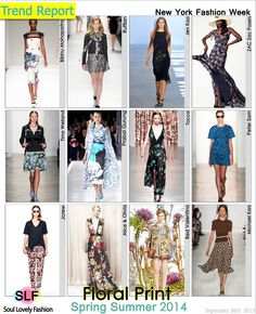 Floral Print #Fashion #Trend for Spring Summer 2014 at New York Fashion Week #NYFW #Spring2014 #Prints #Trends