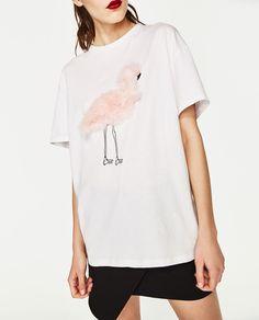 Flamingo Tee   Zara