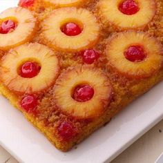 Don't call it a comeback—this classic pineapple cake is one of our most-shared recipes! It only takes seven ingredients and three simple steps, thanks to a box of yellow cake mix. Betty members recommend this retro recipe as an Easter dessert, but we think it's perfect anytime.