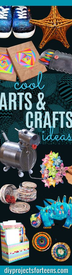 Cool Arts and Crafts Ideas for Teens, Kids and Adults. Fun and Creative DIY Projects for School, Home, Wall Art. Awesome Room Decor Ideas for Teenagers and Tweens  http://diyprojectsforteens.com/arts-and-crafts-ideas-for-teens/