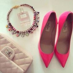 Valentino shoes, Chanel bag