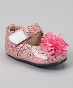 Look what I found on #zulily! Pink Sparkle Flower Mary Jane by Steps by Itzy Bitzy #zulilyfinds
