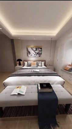 Home Decor Boxes, Modern Bedroom, Bedroom Furniture Design, Bedroom Interior, Home Decor Styles, Home Room Design, Home Decor Crate, Interior Design, Architectural Digest Bedroom