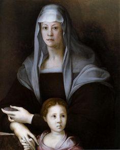 Portrait of Maria Salviati with Giulia de Medici, 1537  Jacopo Pontormo