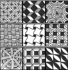 tons of free zentangle pattern