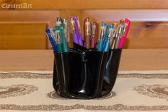 Upcycled Vinyl Record Pencil Holder