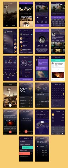 This is our daily iOS app design inspiration article for our loyal readers. Every day we are showcasing a iOS app design whether live on app stores or only designed as concept. Ios App Design, Iphone App Design, Iphone App Layout, Mobile Ui Design, Interface Design, User Interface, App Design Inspiration, Design Ideas, Application Ui Design