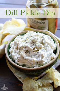 Dill Pickle Dip, Dill Dip, Dill Pickle Recipes, Pickle Wraps, Best Appetizers, Appetizer Dips, Appetizer Recipes, Dip Recipes, Snack Recipes