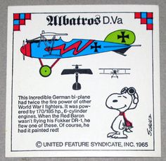 Snoopy and Albatros D.Va WWI Airplane