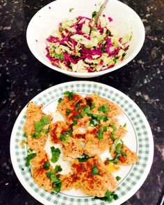 ... Lime Cilantro Chicken, Spicy Mexican Slaw with Lime and Cilantro