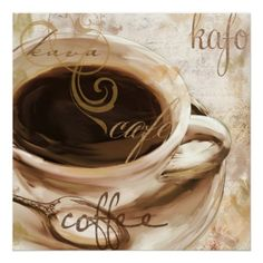 Le Cafe, Decorative Coffee Wall Decor Posters
