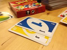 Games in the classroom: Phrasal verb UNO! #magnificent Hashtags: The #Maj #Grammar
