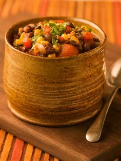 Black Bean Corn Chili, love his recipes.. love watching his cooking show too