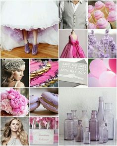 Purple pink and grey
