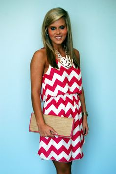 Red Chevron - a good game day dress for the grove!