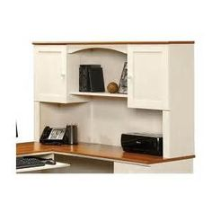 sauder harbor view - this color combo but just writing desk, two bookcases, printerstand for the office/craft room.