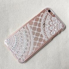 iPhone 6 6s plus Case clear Hand Painted henna White Mandala Art Phone Case Hand Drawn Samsung Galaxy Case Note Sony Xperia mehndi pattern by SnowHennaArt on Etsy https://www.etsy.com/listing/257043013/iphone-6-6s-plus-case-clear-hand-painted