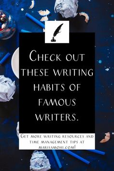 Want to build a better writing habit? Check out these routines of famous writers to up your writing game! #writer #writing #writingadvice #novelwriting Writing Games, Cool Writing, Writing Advice, Writing Resources, Start Writing, Barbara Kingsolver, Time Management Tips, Writing Process, I Love Reading