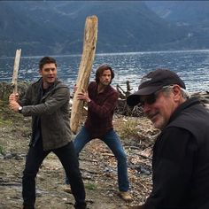 "Jared Padalecki (@jaredpadalecki) on Instagram: ""Supernatural Batting Practice with @jensenackles and @nyackfats"""