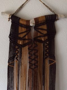 Lassen Driftwood Macrame Wall Hanging by JillGlidden on Etsy  #macrame #driftwood #wallhangings #wallart #native #tribal #rustic #boho #bohemian #retro #brown #nature #natural #wood #beaded #homedecor #naturalhomedecor