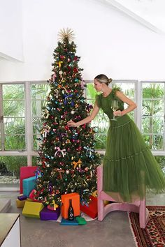 See all of Blair Eadie's holiday decor favorites on Atlantic-Pacific // Plus see her daily outfits on her Shop Looks page - including this gorgeous green tulle dress Duck Ornaments, Blair Eadie, Atlantic Pacific, Fashion Sites, Fashion Trends, Deck The Halls, Tulle Dress, Favorite Holiday, Christmas Holidays