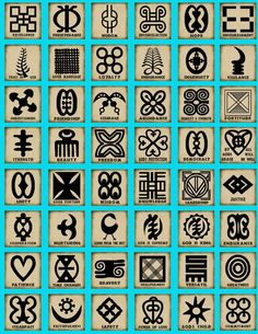 African Adinkra Symbols_For African paintings?