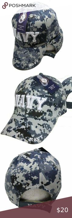 NAVY  WITH SHADOW   ACU DIGITAL CAMOUFLAGE HAT MILITARY CAP U.S