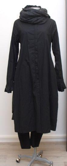 rundholz - Longbluse Hemdkleid black - Winter 2015 - stilecht - mode für frauen mit format...