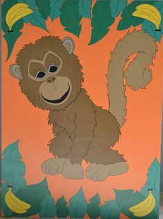 Here are some great games for monkeying around. These games are perfect for children between 2 and 7 years old.   Feed the monkey games include a bag of banana toys to feed the monkey with. Pin the tail on the Monkey include a laminated tail and a scarf to cover the little monkeys eyes. For more information, visit us at www.loveartdesigns.co.uk