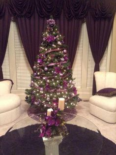 christmas tree purple and silver christmas pinterest
