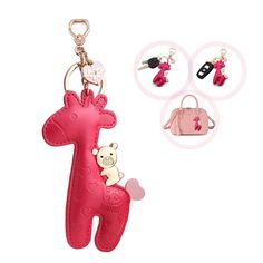 Shop for Giraffe Keychain Organizer Leather Pendant - Discover the newest styles Women's Keyrings & Keychains up to off. Women's Keyrings, Keychains, Car Key Holder, Cute Giraffe, Cute Keychain, Car Keys, Novelty Gifts, Red Roses, Women's Accessories
