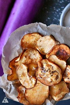 Bet you can't have just one of these Eggplant Chips!
