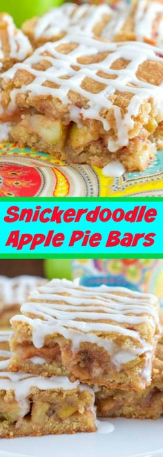 Snickerdoodle Apple Pie Bars - These are one of the BEST fall desserts EVER!-2