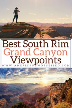 The 15 Best Grand Canyon Viewpoints on the South Rim - Are you looking for the best view at Grand Canyon? These are the best things to see at Grand Canyon South Rim to get the best Grand Canyon viewpoint Usa Travel Guide, Travel Usa, Travel Guides, Cool Places To Visit, Places To Travel, Travel Destinations, Grand Canyon South Rim, National Parks Usa, Arizona Travel