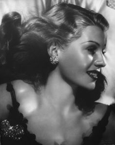 """Rita Hayworth, circa 1940 - """"Gilda"""" is her most famous role, but just being Rita was her most difficult and tragic role - yet absolutely, dazzlingly, beautiful ..."""