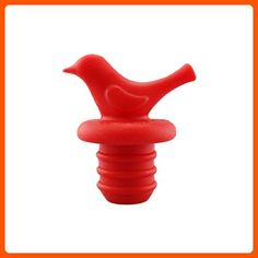Little Bird Wine Bottle Stopper by LouisChoice (1, Christmas Red) - Kitchen gadgets (*Amazon Partner-Link)