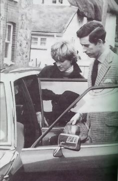 January 1981 - Charles and Diana outside Nick Gassalee's house; when Charles began seeing Diana, he used to bring her over from Highgrove to watch him ride. Afterwards, the couple would return to the Gaselees' warm farmhouse kitchen for a massive breakfast of eggs, bacon, sausages and tomatoes.